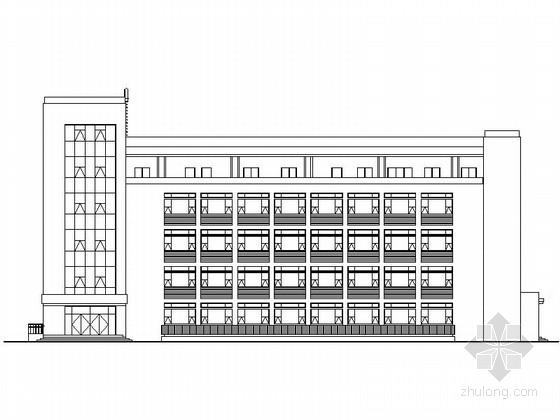 [陕西]5层现代风格市级附属医院肝病治疗中心建筑施工图