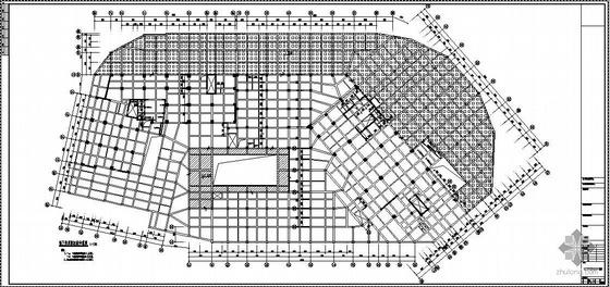 某五星级商务酒店地下室结构图