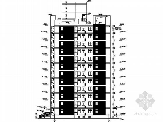 现代风格高层住宅区建筑立面图