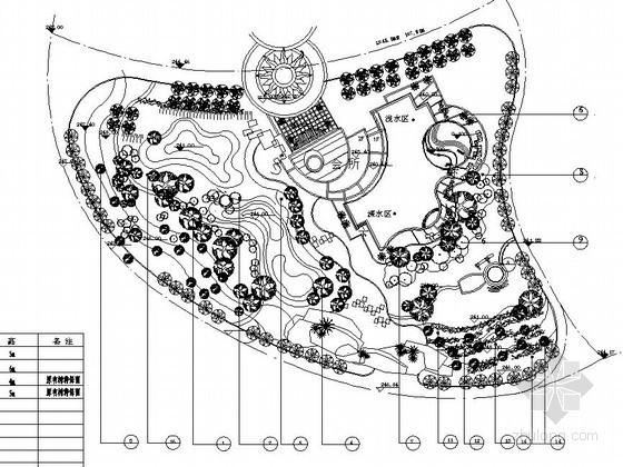 居住区会所周边绿地景观工程施工图
