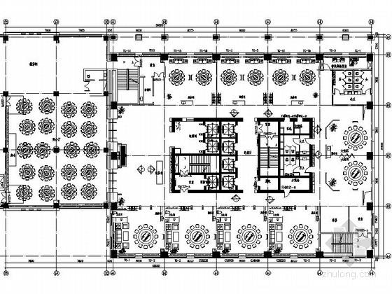 [内蒙古]首家四星级假日商务酒店CAD室内装修施工图(含效果)