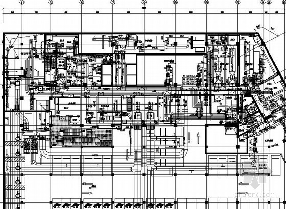 VAV办公楼空调系统资料下载-[上海]高档办公楼空调通风设计全套图纸(冰蓄冷 3栋楼)