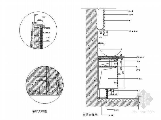 [无锡]滨湖知名地产现代五居室装修图(含效果)主卫大样图