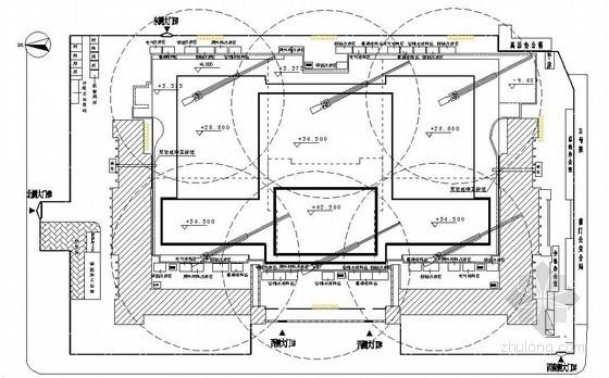 [北京]博物馆扩建工程塔吊施工方案(平面图)