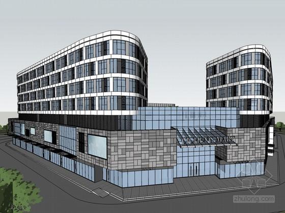 城市商场SketchUp模型下载