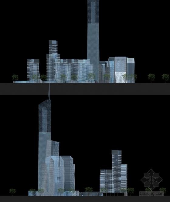 [贵州]绿色生态可持续性城市规划设计方案文本(国际知名设计院)-绿色生态可持续性城市规划设计立面图