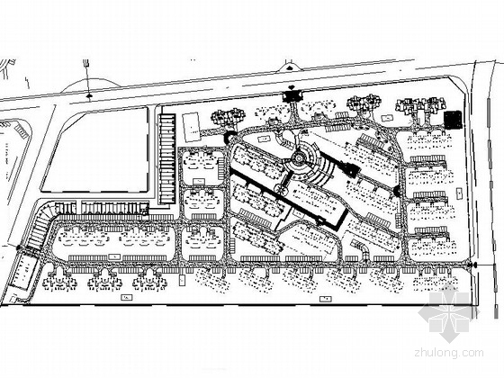 [安徽]简约居住区绿化规划设计施工图