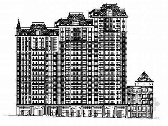 [湖南]某欧式现代小区十八层住宅楼建筑施工图(2号楼)