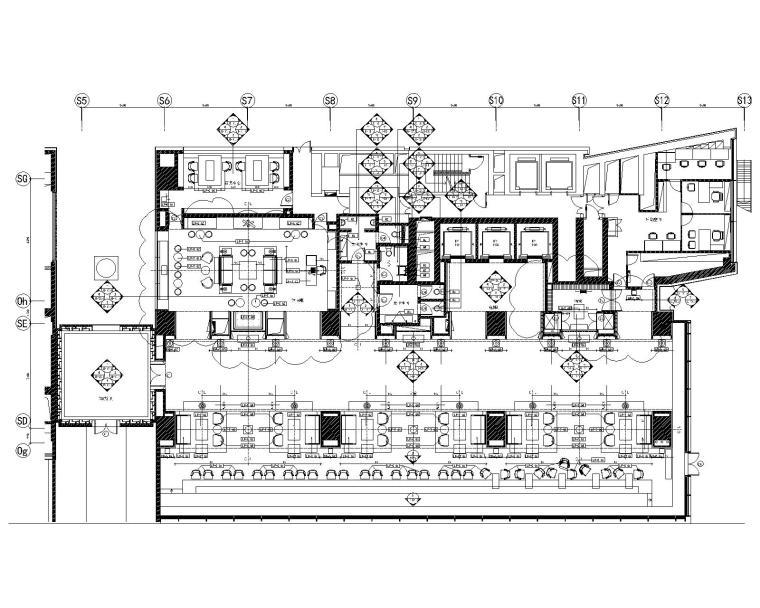 [上海]JAYA-上海璞丽酒店室内装修全套CAD竣工图