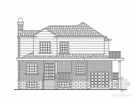 [湖南]某二层乡村别墅建筑扩初图