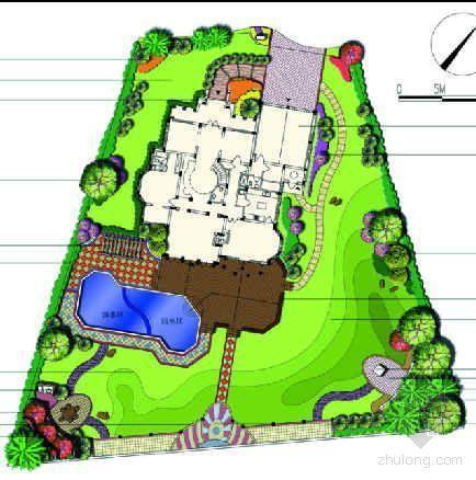 东莞某别墅花园设计图