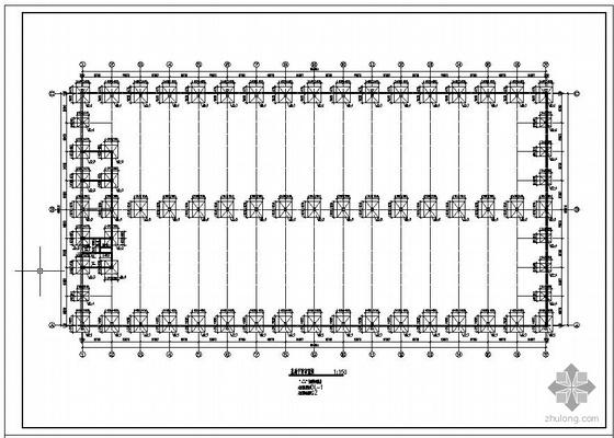 某带气楼厂房结构设计图