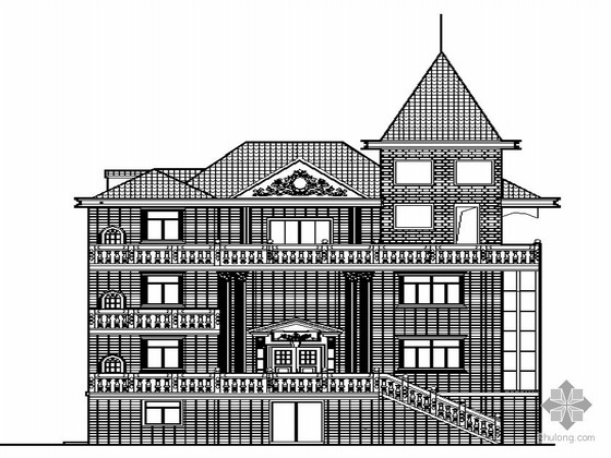 [福州琅岐]某三层私宅建筑设计套图(带效果图)