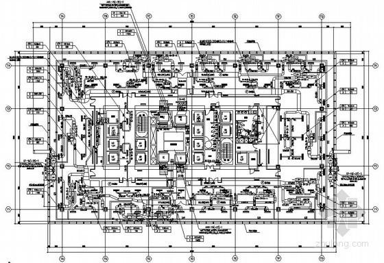 [上海]大型综合商业办公楼暖通空调全套施工图