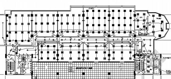 某综合楼电气照明防雷接地平面图