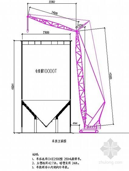 筒仓仓顶、提升塔及仓顶栈桥钢结构吊装工程专项施工方案