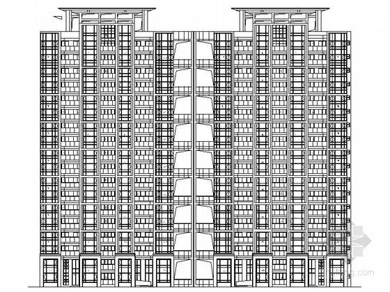 [中山]某十八层一梯三户住宅楼建筑施工图