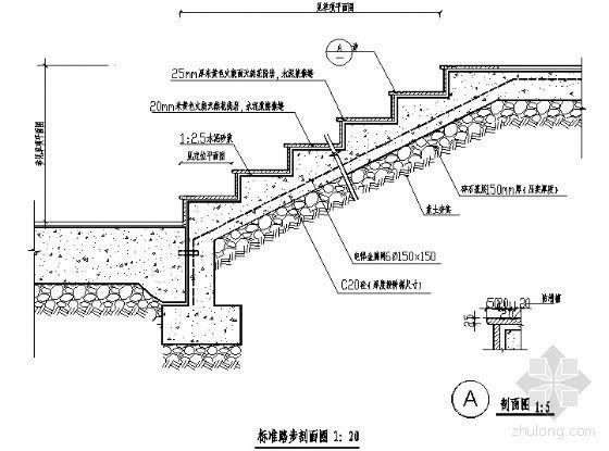 标准踏步剖面图-4