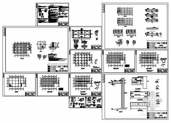 某驻沪办公楼钢框架结构设计图