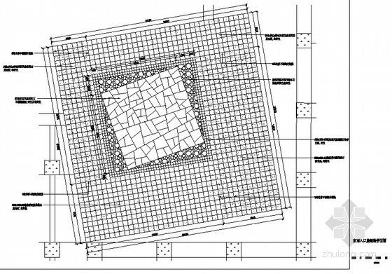 入口处铺装平面图
