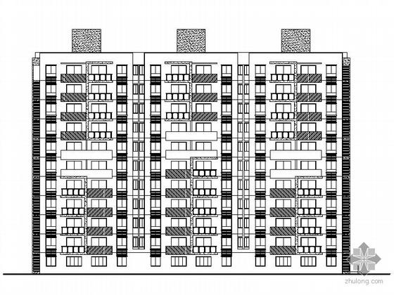[温州]某住宅区1号、6号、8号十一层板式住宅楼建筑施工图