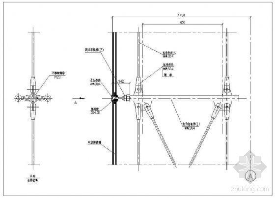 拉杆式点式幕墙节点(一)