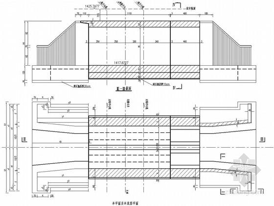 8m及12m钢筋混凝土箱形桥施工图19张(含1孔 2孔)