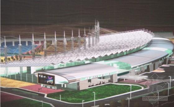 [天津]会展中心展厅斜拉空间结构屋架滑移专项方案