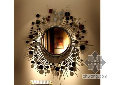 vr镜子材质资料下载-现代玄关镜