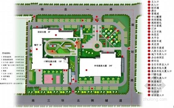 [西安]高新科技园区示范基地室外景观设计方案