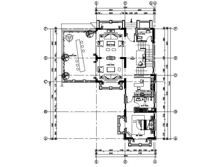[海口]复古奢华低层别墅样板间室内设计施工图(含软装方案)_1