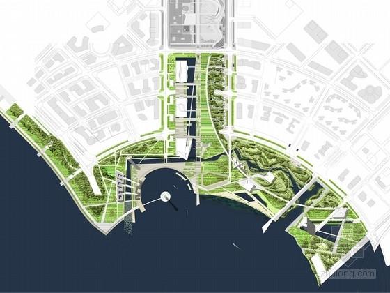[广东]现代滨海广场与休闲公园景观设计方案(知名设计机构作品)