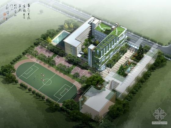 [福州]某中学教学综合楼建筑设计方案(有效果图)
