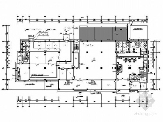 [浙江]精品通信公司枢纽现代风格办公楼装修室内设计施工图(含效果)