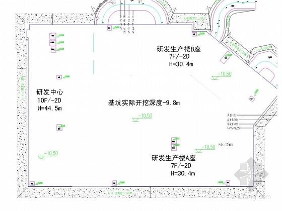 [北京]土钉墙及桩锚支护基坑工程施工图