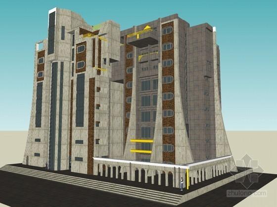 高层住宅SketchUp模型下载
