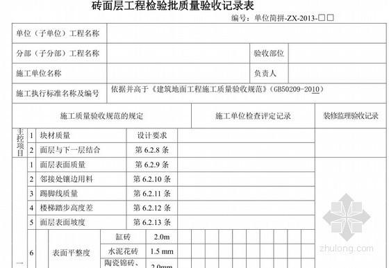 超五星级酒店工程装修施工工艺及验收细则(32项、附质量验收表)