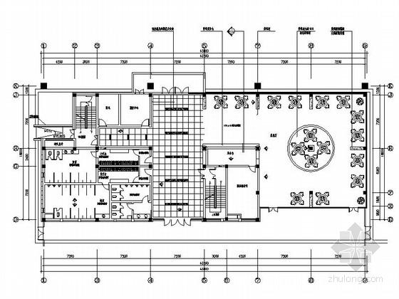 [浙江]三层网球中心室内装修CAD施工图(含效果)