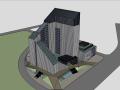生态办公楼 特色办公楼  SU模型