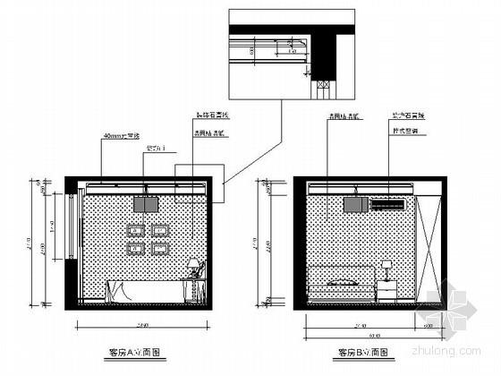 [温州]某简约四居室客房立面图