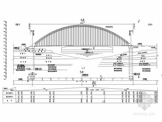 302米跨径系杆拱桥全套施工图(123张)