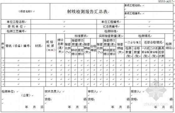 炼油化工建设项目竣工验收全套表格(422个表格)
