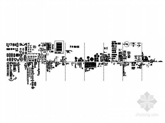 全套工装室内图块CAD图块下载 总缩略图
