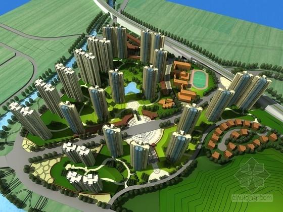 [福建]綠色景觀式高檔住宅區規劃設計方案文本