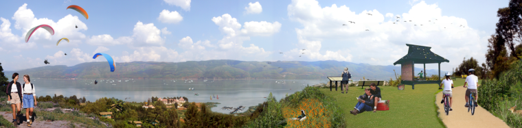 4套Aecom效果图素材-滨水休闲居住景观效果图psd分层源文件(1)