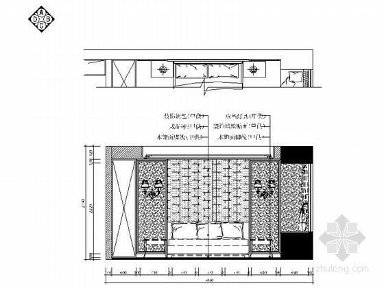 [浙江]唯美精致欧式风格三居室装修施工图(含效果图) 立面图