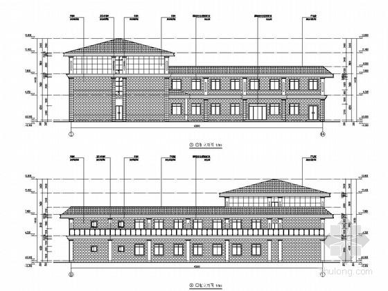 [四川]四层框架结构驾校办公楼结构施工图(含建筑图)