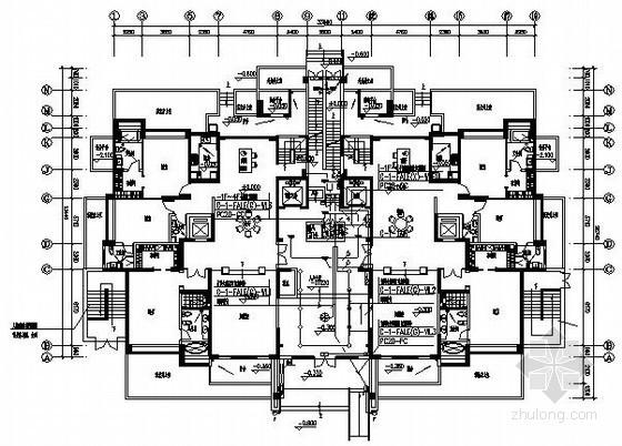 [海南]度假区C型高层住宅电气图纸