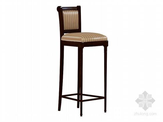 欧式高脚椅子3D模型下载