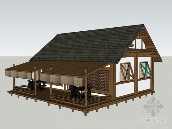 茶室店面设计SketchUp模型下载